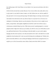 essay deviance essay deviance describe the controversy  1 pages essay poverty