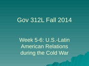 Gov 312L Fall 2014 Week 5-6 overheads