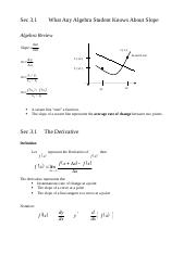 3.1 Notes Definition of a Derivative.docx