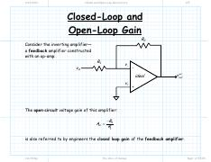 Closed and Open Loop Gain lecture