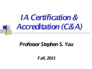 CSE 465 Lecture 15 IA Certification  Accreditation_Fall 2013