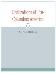 Civilizations of Pre-Columbus America