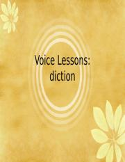 AP Nancy Dean Voice Lessons--Diction