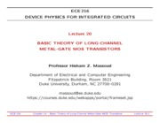 ECE216-Lecture-20-Long-Channel-MOS-Transistors