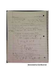 Conservation of energy notes