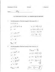 Calculus for Engineering Tech 1 workshop solutions 4
