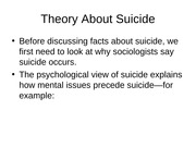 Facts About Suicide in US