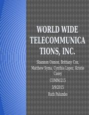 World Wide Telecommunications, INC