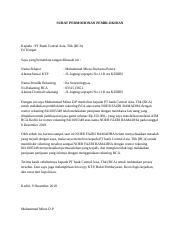 Surat Permohonan Pemblokiran Docx Surat Permohonan Pemblokiran