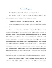The Death Frequency Short Story Exercise