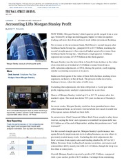 Accounting Lifts Morgan Stanley Profit - WSJ