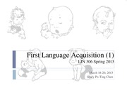 11. First Language Acquisition