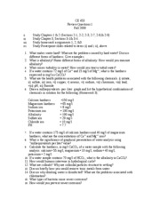 CE 453- Study Guide for Quiz 1- '09