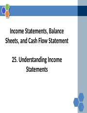 Reading+25+Understanding Income Statements