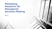 Marketing Research for Managerial Decision-Making - Ch 1