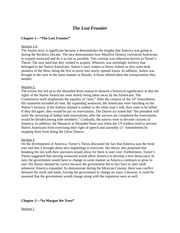The Lost Frontier Essay