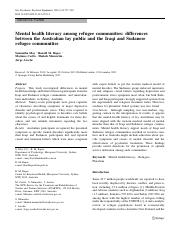 Mental health literacy among refugee communities differences.pdf