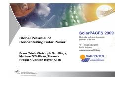 Global Potential of Concentrating Solar Power
