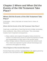 Chapter 2 Where and When Did the Events of the Old Testament Take Place.docx