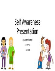 Self Awareness Presentation