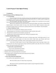 Contoh Proposal Usaha Digital Printing 1 Docx Contoh Proposal Usaha Digital Printing I Pendahuluan 1 Latar Belakang Dan Motivasi Melakukan Usaha 1 1 Course Hero