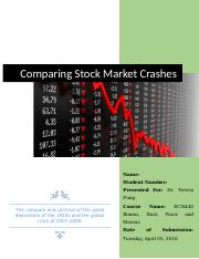 stock market crashes comparison