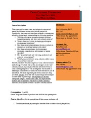 Syllabus-Psyc 354 Fall 2013 Final
