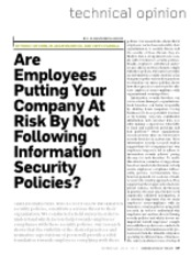 05 Employees not following policies
