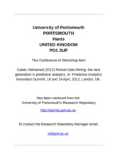 11University of Portsmouth