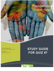 Study Guide for Quiz 7_Spring 2015_Maternal Health