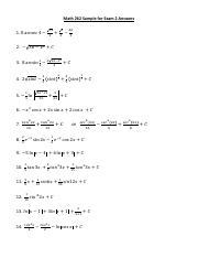 Math 262 Sample for Exam 2 Answers.pdf