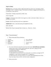 Chemistry 2423 Study Guide 4,5,7,8