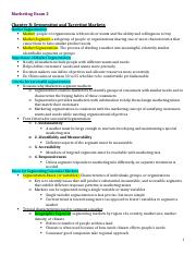 Marketing Exam 2 Study Guide