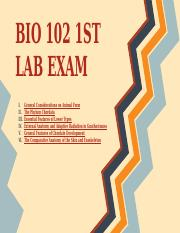 BIO 102 1st lab exam reviewer