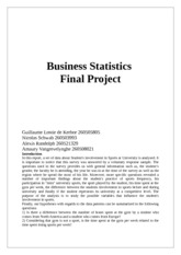 Business Statistics Final Project