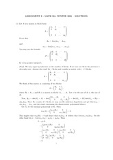 MATH 251 Assignment 9 Solutions