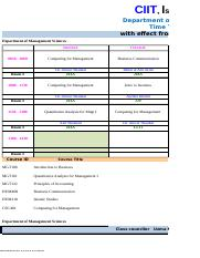 Time Table - Fall 2016- Mgt Sciences (30-8-2016).xlsx