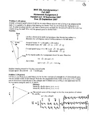 Homework C Solutions on Aerodynamics