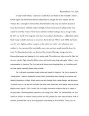 PSTL 1231 The Black Power Movement Essay