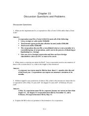 Chapter 15 Discussions and Problems.doc