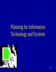 10 - PLANNING FOR ITS