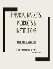 L 1 _ Introduction to FMPI