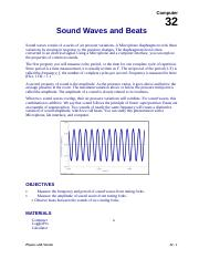 Sound Waves and Beats