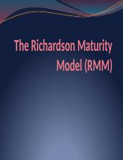 8. The Richardson Maturity Model - 160107.pptx