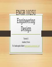 ENGR 1025 Tutorial 3