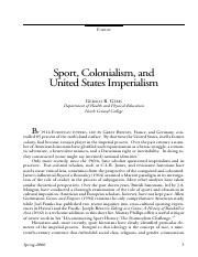 Sport and Colonialism