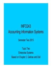 INFO243 Topic 02 - For Lecture - Enterprise Systems (1)