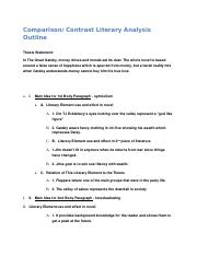 Comparison: Contrast Literary Analysis Outline.rtf