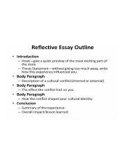 Reflective essay topics