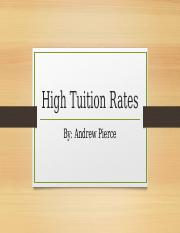 High Tuition Rates